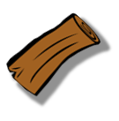 Log icon, marks plants that are woody, and invulnerable to invasion. From Fire and Flora v12.